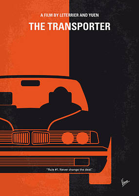 Names Digital Art - No552 My The Transporter Minimal Movie Poster by Chungkong Art