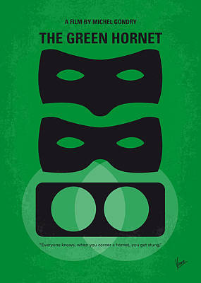 Hornet Digital Art - No561 My The Green Hornet Minimal Movie Poster by Chungkong Art