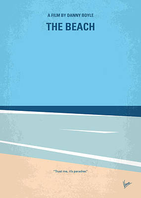 Bangkok Digital Art - No569 My The Beach Minimal Movie Poster by Chungkong Art
