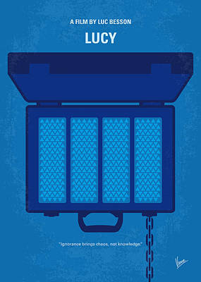 No574 My Lucy Minimal Movie Poster Print by Chungkong Art