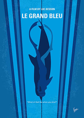 Championship Digital Art - No577 My Big Blue Minimal Movie Poster by Chungkong Art