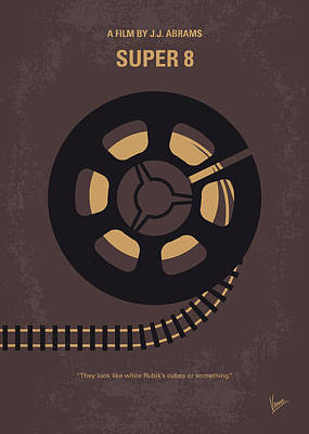 No578 My Super 8 Minimal Movie Poster Art Print