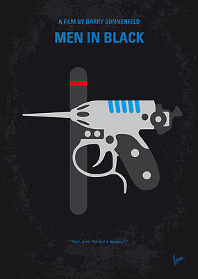 No586 My Men In Black Minimal Movie Poster Art Print by Chungkong Art