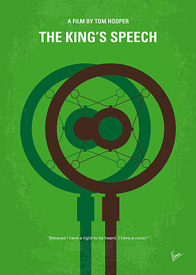 Queen Digital Art - No587 My The Kings Speech Minimal Movie Poster by Chungkong Art