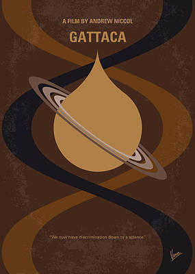 No588 My Gattaca Minimal Movie Poster Art Print