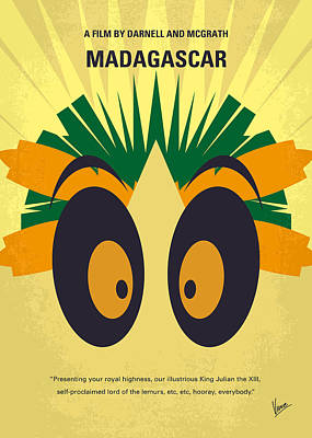 Penguin Digital Art - No589 My Madagascar Minimal Movie Poster by Chungkong Art