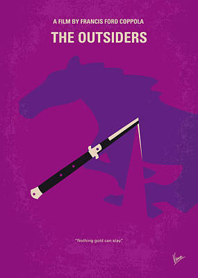 Dallas Digital Art - No590 My The Outsiders Minimal Movie Poster by Chungkong Art