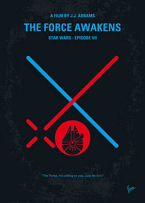 No591 My Star Wars Episode Vii The Force Awakens Minimal Movie Poster Art Print