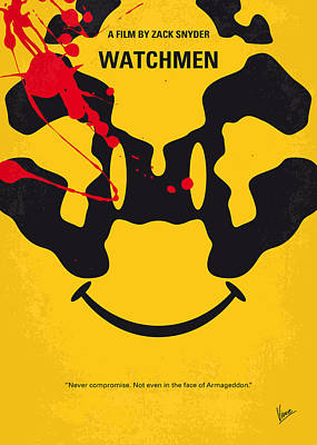 No599 My Watchmen Minimal Movie Poster Art Print