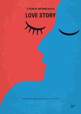 Harvard Digital Art - No600 My Love Story Minimal Movie Poster by Chungkong Art