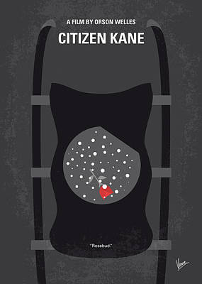 No605 My Citizen Kane Minimal Movie Poster Art Print by Chungkong Art