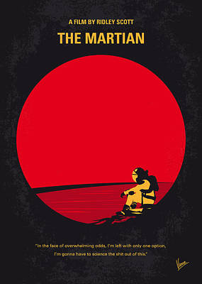 Mission Digital Art - No620 My The Martian Minimal Movie Poster by Chungkong Art