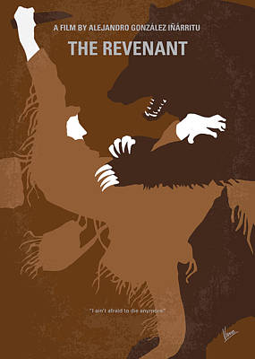 Glass Art Digital Art - No623 My The Revenant Minimal Movie Poster by Chungkong Art