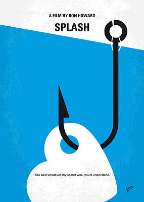 No625 My Splash Minimal Movie Poster Art Print