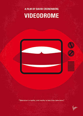 Brains Digital Art - No626 My Videodrome Minimal Movie Poster by Chungkong Art