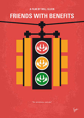 New York Digital Art - No629 My Friends With Benefits Minimal Movie Poster by Chungkong Art