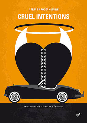 Jaguar Art Digital Art - No635 My Cruel Intentions Minimal Movie Poster by Chungkong Art