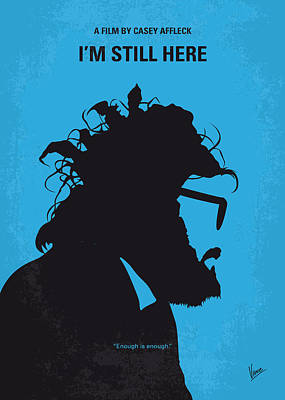 No637 My I Am Still Here Minimal Movie Poster Art Print