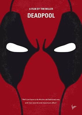 Egos Digital Art - No639 My Deadpool Minimal Movie Poster by Chungkong Art