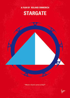 Egypt Digital Art - No644 My Stargate Minimal Movie Poster by Chungkong Art