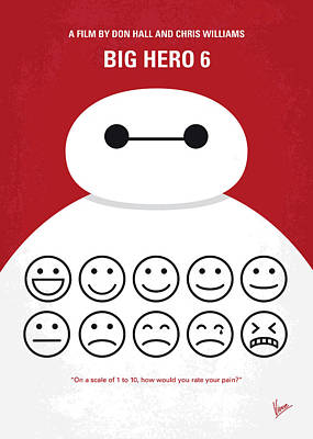 6 Digital Art - No649 My Big Hero 6 Minimal Movie Poster by Chungkong Art