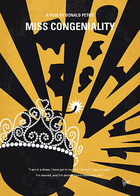 No652 My Miss Congeniality Minimal Movie Poster Art Print by Chungkong Art