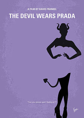 No661 My The Devil Wears Prada Minimal Movie Poster Print by Chungkong Art