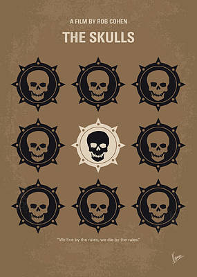 Harvard Digital Art - No662 My The Skulls Minimal Movie Poster by Chungkong Art