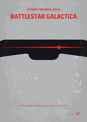 Evil Digital Art - No663 My Battlestar Galactica Minimal Movie Poster by Chungkong Art