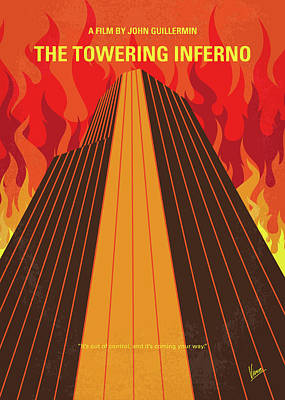 1970s Digital Art - No665 My The Towering Inferno Minimal Movie Poster by Chungkong Art