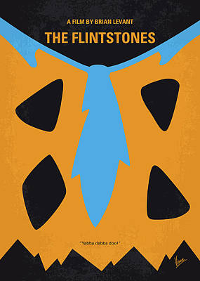 No669 My The Flintstones Minimal Movie Poster Art Print