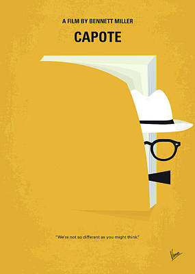 Social Digital Art - No671 My Capote Minimal Movie Poster by Chungkong Art