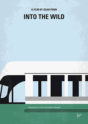 University Of Illinois Digital Art - No677 My Into The Wild Minimal Movie Poster by Chungkong Art