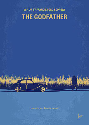 Don Digital Art - No686-1 My Godfather I Minimal Movie Poster by Chungkong Art