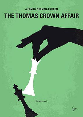 Pierce Brosnan Digital Art - No689 My The Thomas Crown Affair Minimal Movie Poster by Chungkong Art