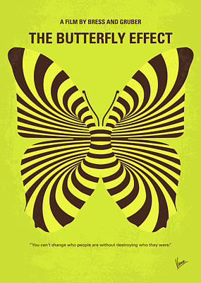 Chaos Digital Art - No697 My The Butterfly Effect Minimal Movie Poster by Chungkong Art