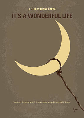 Moon Digital Art - No700 My Its A Wonderful Life Minimal Movie Poster by Chungkong Art