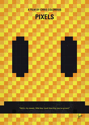 No703 My Pixels Minimal Movie Poster Art Print