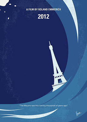 Earth Digital Art - No709 My 2012 Minimal Movie Poster by Chungkong Art