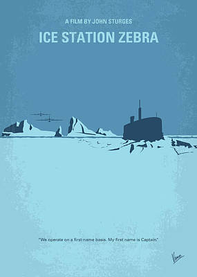 North Wall Digital Art - No711 My Ice Station Zebra Minimal Movie Poster by Chungkong Art