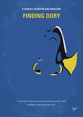 Remember Digital Art - No717 My Finding Dory Minimal Movie Poster by Chungkong Art