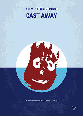 Wilson Digital Art - No718 My Cast Away Minimal Movie Poster by Chungkong Art
