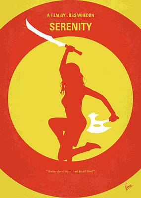 Firefly Digital Art - No722 My Serenity Minimal Movie Poster by Chungkong Art
