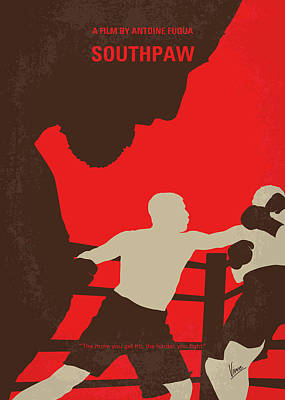 No723 My Southpaw Minimal Movie Poster Art Print by Chungkong Art