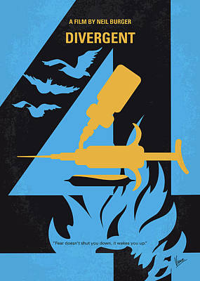 Syfy Digital Art - No727 My Divergent Minimal Movie Poster by Chungkong Art