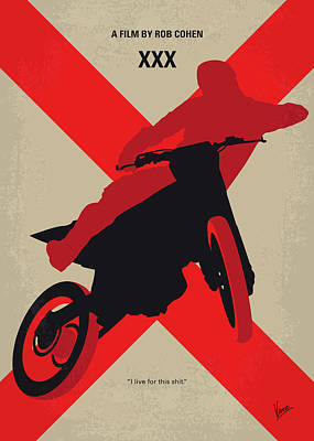 Nina Dobrev Digital Art - No728 My Xxx Minimal Movie Poster by Chungkong Art