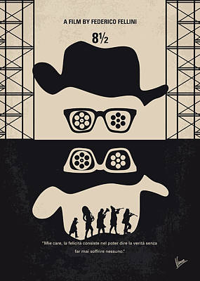 Director Digital Art - No731 My 8 1 2 Minimal Movie Poster by Chungkong Art