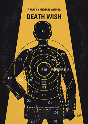 No740 My Death Wish Minimal Movie Poster Art Print by Chungkong Art