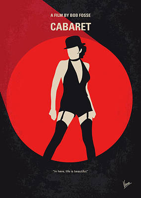 Berlin Digital Art - No742 My Cabaret Minimal Movie Poster by Chungkong Art