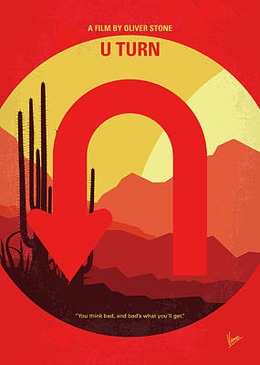 Desert Digital Art - No745 My Uturn Minimal Movie Poster by Chungkong Art